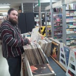 Paul putting away records, if you have vinyl questions, he's the man to ask.