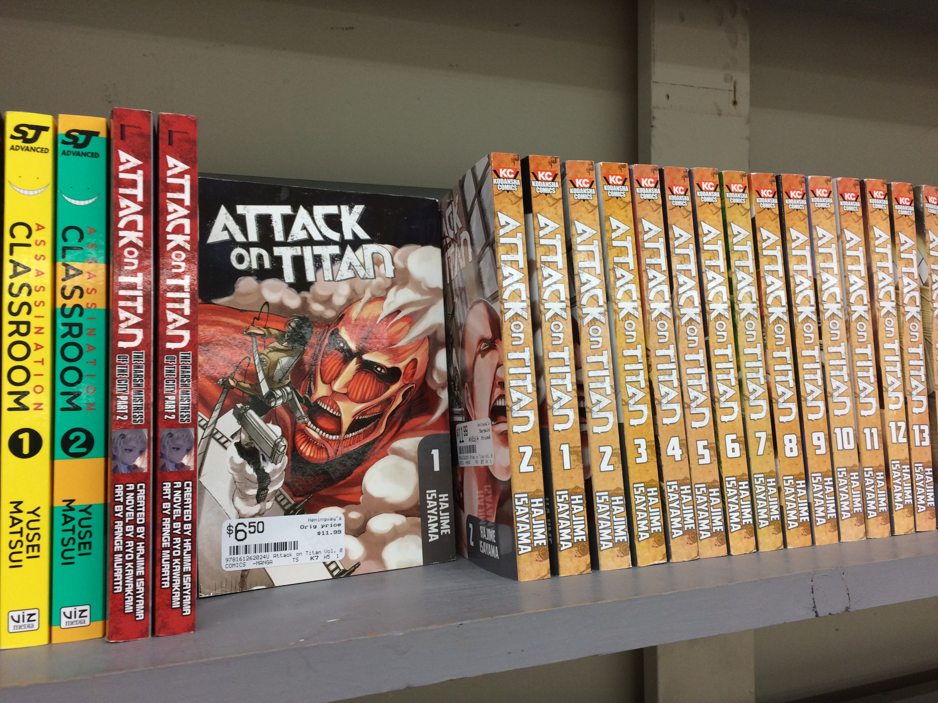 We are also lucky enough to have found a ton of used attack on titan manga so come get them while theyre hot